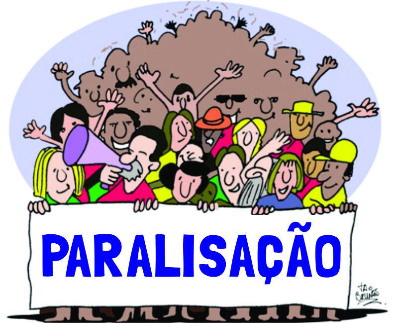 CARTILHA: PARALISAÇÃO DEVE SER 100%.